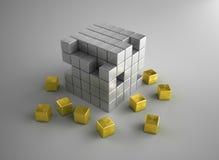 rozdrabniania złota srebro Zdjęcia Stock