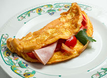 rozdrapani jajek warzywa Zdjęcie Stock