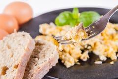 Rozdrapani jajka z ziarnami fotografia royalty free