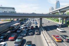 Rozdroże ruch drogowy Beijing zdjęcia stock