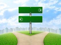 Rozdroże drogowy znak ilustracji