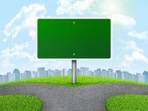 Rozdroże drogowy znak royalty ilustracja