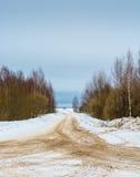 Rozdroże lasowe drogi zdjęcie stock