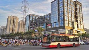 Rozdroże ruch drogowy Beijing fotografia royalty free