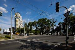 Rozdroże w Bratislava zdjęcie royalty free