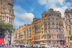 Rozdroże w Madryt obraz royalty free