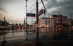 Rozdroże w Warszawa fotografia stock