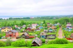 Rozdroża dwa ulicy pereslavl Russia zalesskiy fotografia stock