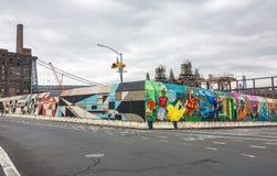 Rozdroża ulica Ave w Brooklyn i Kent, NYC Fotografia Royalty Free