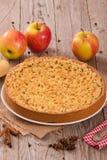 Rozdrobni jabłczanego tort Zdjęcie Stock