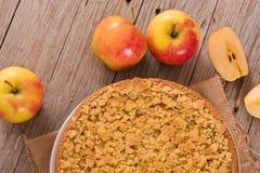 Rozdrobni jabłczanego tort Obrazy Stock