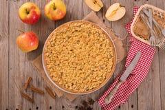 Rozdrobni jabłczanego tort Zdjęcie Royalty Free