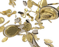 Rozdzielające monety Fotografia Royalty Free