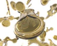 Rozdzielające monety Fotografia Stock