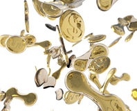 Rozdzielające monety Obraz Stock