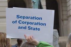 Rozdzielenie Korporacja i stan obrazy stock