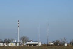 Rozdzielenie stacja dla ropa i gaz traktowania Ropa i gaz wyposażenie Fotografia Royalty Free
