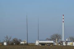 Rozdzielenie stacja dla ropa i gaz traktowania Ropa i gaz wyposażenie Zdjęcia Royalty Free