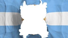 Rozdzierająca Argentyna latania flaga royalty ilustracja