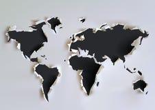 Rozdzierająca papierowa mapa ilustracja wektor