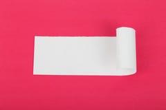 Rozdzierający biały papier z przestrzenią dla teksta Obrazy Stock