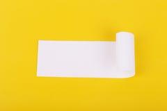 Rozdzierający biały papier z przestrzenią dla teksta Zdjęcia Stock