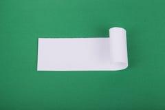 Rozdzierający biały papier z przestrzenią dla teksta Obraz Royalty Free