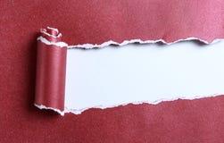 Rozdzierający czerwień papier obrazy royalty free