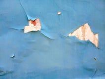 Rozdzierający i łamający błękit ściany tło fotografia royalty free