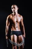 Rozdzierający mięśniowy mężczyzna w sporta pojęciu Zdjęcie Royalty Free