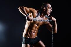 Rozdzierający mięśniowy mężczyzna w sporta pojęciu Zdjęcia Stock