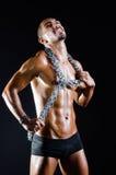 Rozdzierający mięśniowy mężczyzna w sporta pojęciu Zdjęcie Stock