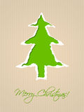 Rozdzierający papierowy kartka bożonarodzeniowa projekt w zieleni Zdjęcie Royalty Free