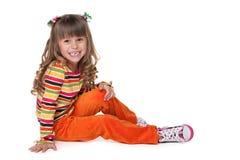Roześmiana ładna mała dziewczynka fotografia stock