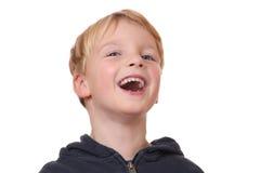 Roześmiana chłopiec fotografia royalty free