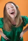 roześmiana głośna kobieta głośny zdjęcia stock