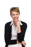 Roześmiana młoda kobieta. Zdjęcia Stock