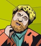 roześmiany broda mężczyzna Obraz Royalty Free