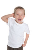 roześmiany chłopiec preschool Obraz Stock