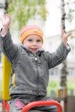 Roześmiany dziecko na huśtawce Obrazy Royalty Free