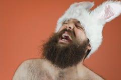 Roześmiany królika mężczyzna Zdjęcia Stock