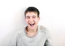 roześmiany nastolatek Zdjęcia Stock