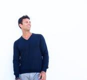 Roześmiany stary męski moda model Fotografia Royalty Free