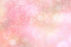 Roze abstracte achtergrond met harten stock foto's