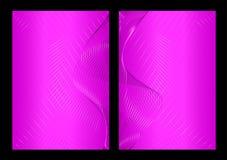 Roze abstracte achtergrond, voorzijde en rug stock illustratie