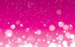 Roze abstracte punt met geometrische bokehvector als achtergrond stock illustratie