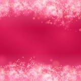 Roze abstracte romantische achtergrond Stock Afbeelding
