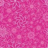 Roze Abstracte Sier Bloemen royalty-vrije illustratie