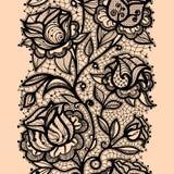 Roze abstrait de ruban de dentelle Images stock