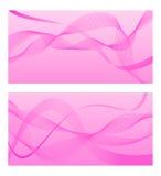 Roze achtergrond met abstracte lijnen Vector illustratie Royalty-vrije Stock Fotografie